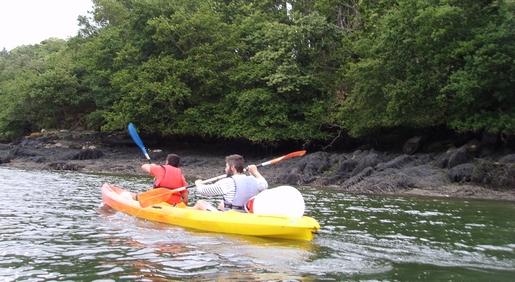 remonte de l'odet en kayak