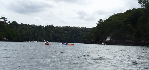 descente de l'odet en Kayak de mer